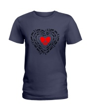 PEACE SIGN HEART Ladies T-Shirt thumbnail