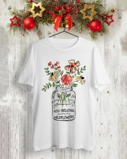 Wild Flower Classic T-Shirt lifestyle-holiday-crewneck-front-2