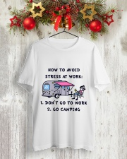 How To Avoid Stress Classic T-Shirt lifestyle-holiday-crewneck-front-2