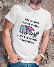 How To Avoid Stress Classic T-Shirt lifestyle-mens-crewneck-front-4