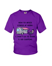 How To Avoid Stress Youth T-Shirt thumbnail