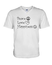 PEACE LOVE V-Neck T-Shirt thumbnail