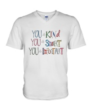 YOU IS KIND SMART IMPORTANT V-Neck T-Shirt thumbnail
