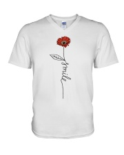 Smile Daisy 2 V-Neck T-Shirt thumbnail