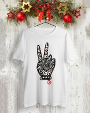 PEACE ROCK STAR Classic T-Shirt lifestyle-holiday-crewneck-front-2