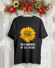 HELLO DARKNESS MY OLD FRIEND Classic T-Shirt lifestyle-holiday-crewneck-front-2