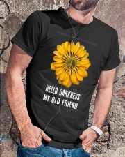 HELLO DARKNESS MY OLD FRIEND Classic T-Shirt lifestyle-mens-crewneck-front-4