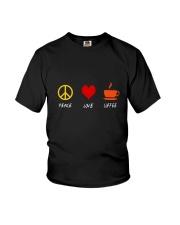 PEACE LOVE COFFE Youth T-Shirt thumbnail