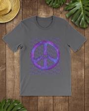 PEACE SIGN Premium Fit Mens Tee lifestyle-mens-crewneck-front-18