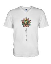 YG-D-11031911-Namaste Yoga Mandala V-Neck T-Shirt thumbnail