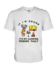 Deer Buck Camping V-Neck T-Shirt thumbnail