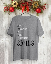SEE MIRACLES IN LIFE EVERYDAY Classic T-Shirt lifestyle-holiday-crewneck-front-2