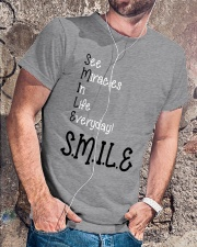 SEE MIRACLES IN LIFE EVERYDAY Classic T-Shirt lifestyle-mens-crewneck-front-4