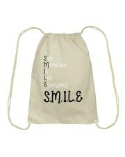SEE MIRACLES IN LIFE EVERYDAY Drawstring Bag thumbnail