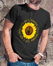 She Is Sunshine Classic T-Shirt lifestyle-mens-crewneck-front-4