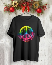 LOVE MUSIC PEACE Classic T-Shirt lifestyle-holiday-crewneck-front-2