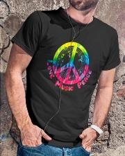 LOVE MUSIC PEACE Classic T-Shirt lifestyle-mens-crewneck-front-4
