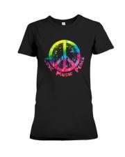 LOVE MUSIC PEACE Premium Fit Ladies Tee thumbnail
