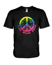 LOVE MUSIC PEACE V-Neck T-Shirt thumbnail