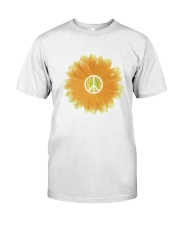 FLOWER PEACE Premium Fit Mens Tee front