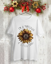 IM A SUNFLOWER A LITTLE FUNNY Classic T-Shirt lifestyle-holiday-crewneck-front-2