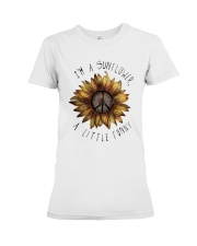 IM A SUNFLOWER A LITTLE FUNNY Premium Fit Ladies Tee thumbnail