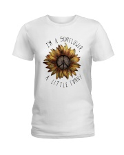 IM A SUNFLOWER A LITTLE FUNNY Ladies T-Shirt thumbnail