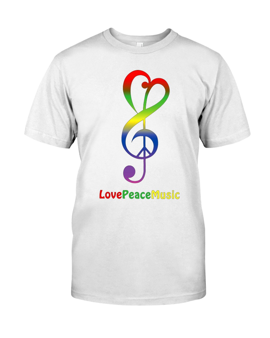 Peace Love Music Premium Fit Mens Tee