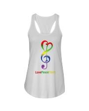 Peace Love Music Ladies Flowy Tank thumbnail