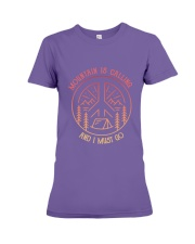 CP-D25021918-Mountain is calling and i must go 3 Premium Fit Ladies Tee thumbnail