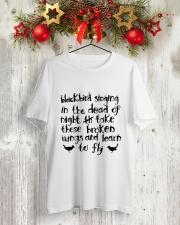 Blackbird Singging Classic T-Shirt lifestyle-holiday-crewneck-front-2