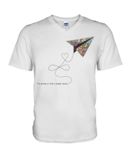 FIND A HAPPY PLACE V-Neck T-Shirt thumbnail