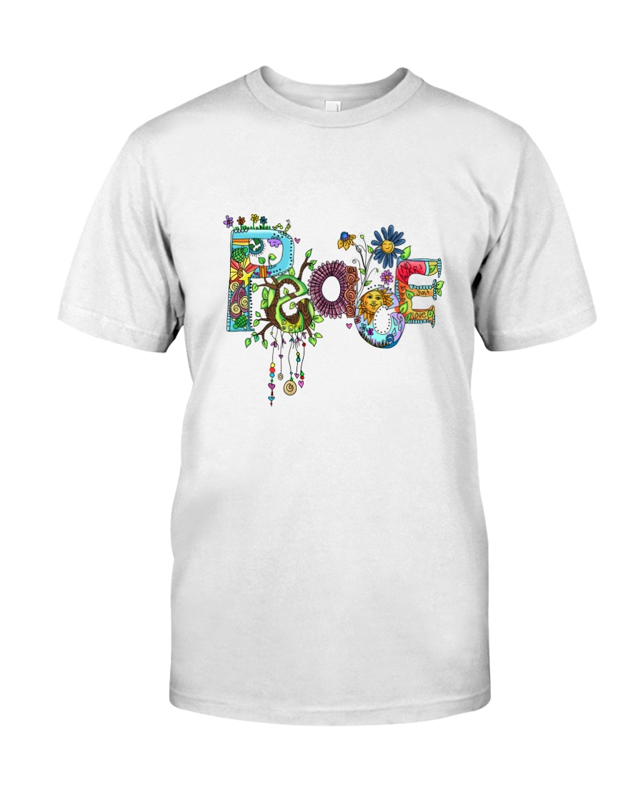 PEACE LOVE Premium Fit Mens Tee