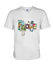 PEACE LOVE V-Neck T-Shirt thumbnail