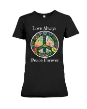 Love always peace forever Premium Fit Ladies Tee thumbnail