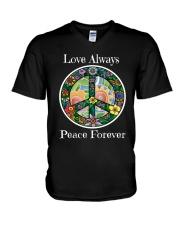 Love always peace forever V-Neck T-Shirt thumbnail