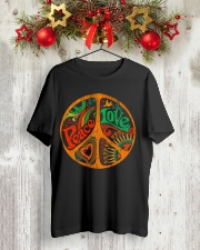 PEACE LOVE  Classic T-Shirt lifestyle-holiday-crewneck-front-2