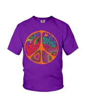 PEACE LOVE  Youth T-Shirt thumbnail