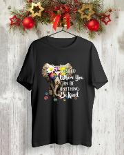 PEACE ELEPHANT Classic T-Shirt lifestyle-holiday-crewneck-front-2