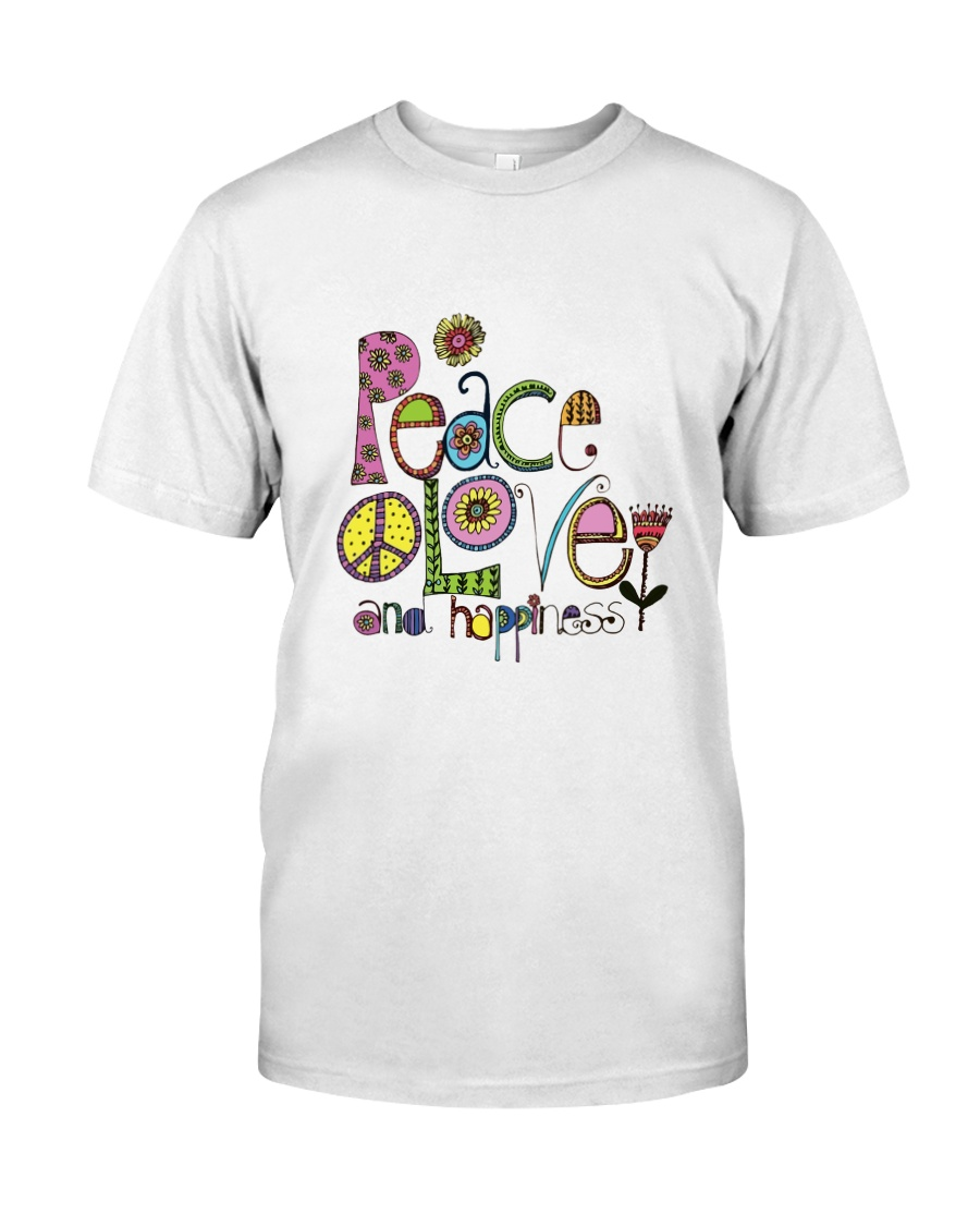 PEACE LOVE AND HIPPIESS Premium Fit Mens Tee