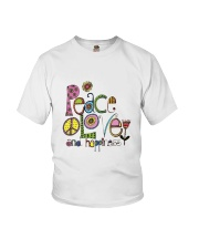 PEACE LOVE AND HIPPIESS Youth T-Shirt thumbnail
