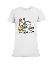 PEACE LOVE AND HIPPIESS Premium Fit Ladies Tee thumbnail