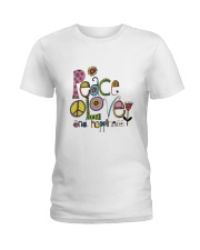 PEACE LOVE AND HIPPIESS Ladies T-Shirt thumbnail