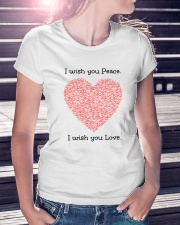 LOVE PEACE Premium Fit Ladies Tee lifestyle-women-crewneck-front-7