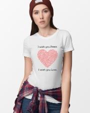 LOVE PEACE Premium Fit Ladies Tee lifestyle-women-crewneck-front-9