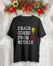 PEACE COME FROM WITHIN Classic T-Shirt lifestyle-holiday-crewneck-front-2