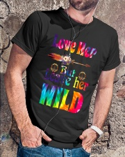 LOVE HER BUT LEAVE HER WILD Classic T-Shirt lifestyle-mens-crewneck-front-4