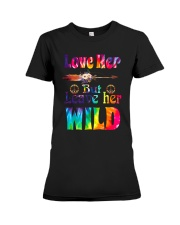 LOVE HER BUT LEAVE HER WILD Premium Fit Ladies Tee thumbnail