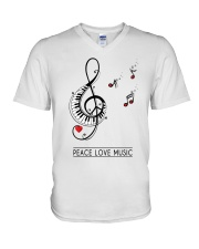 PEACE MUSIC V-Neck T-Shirt tile