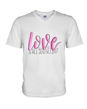 LOVE IS ALL YOU NEED V-Neck T-Shirt thumbnail